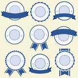 Badge, Label and Banner Set - blue Stock Images