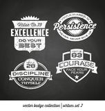 Badge label collection with virtues-chalkboard style Royalty Free Stock Images