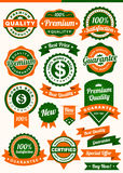 Badge & Label. Set of Badges and Ribbon, EPS 10 file and Hi-Res Jpg Royalty Free Stock Photo