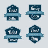 Badge, label and sticker for best seller. Stock Images