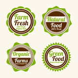Badge, label and sticker for food shop. Stock Photos