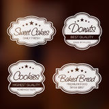 Badge, label and sticker for food shop. Royalty Free Stock Photo