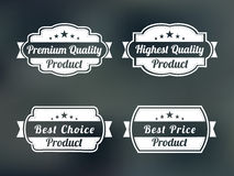 Badge, label or sticker for premium quality product. Stock Photography