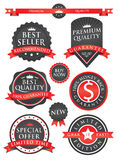 Badge and labels. EPS 10 file and large jpg included Stock Photos