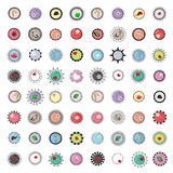 46 Badge and Logo placeholder button frames,items and colors inside removable,totally editable Royalty Free Stock Photography