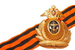 Badge military naval forces of Russia Royalty Free Stock Photo