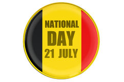 Badge National Day in Belgium Stock Images