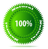 100% natural. A badge for a 100% natural product royalty free illustration