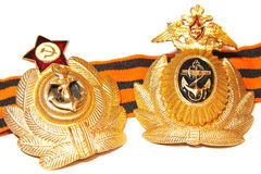 Badge naval forces of the USSR and Russia Royalty Free Stock Photography