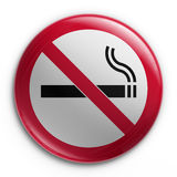 Badge - No smoking. 3d rendering of a badge with a no smoking sign Stock Photography
