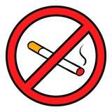Badge no smoking icon cartoon Stock Photo