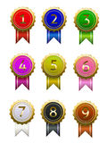 Badge numbers Royalty Free Stock Photos