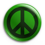 Badge - Peace. 3d rendering of a badge with the peace sign Stock Photo