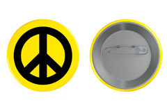 Badge with the Peace sign Stock Photography
