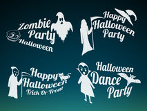 Badge and poster for Halloween party. Stock Image