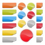 Badge prix and notes Royalty Free Stock Image