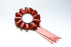 Badge R. Red badge isolated on white whit space to put your text Royalty Free Stock Images