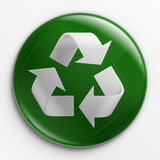 Badge - recycle logo Stock Images