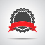 Badge with red ribbon icon Royalty Free Stock Photo