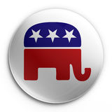 Badge - republican. 3d rendering of a badge with the republican logo Royalty Free Stock Image
