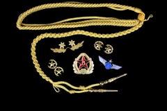 Badge and ribbon of Chinese Air Force Royalty Free Stock Image
