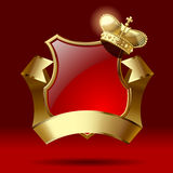 Badge with ribbon and crown Royalty Free Stock Photo