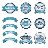 Badge and Ribbon Design Elements Royalty Free Stock Image