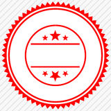 Badge, seal with empty space. Button, label template. royalty free illustration