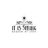 Badge set for small businesses - Spring. The pattern printing plate handmade works written by hand font. It can be used Stock Image