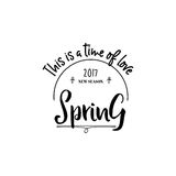 Badge set for small businesses - Spring. The pattern printing plate handmade works written by hand font. It can be used Stock Photography