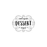 Badge set for small businesses - sweet bakery. The pattern printing plate handmade works written by hand font. It can be. Handmade Logo set for small businesses Stock Photo