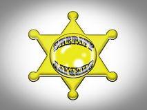 badge sheriff Royalty Free Stock Photos
