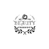 Badge for small businesses - Beauty Product Salon. Sticker, stamp, logo - for design, hands made. With the use of floral Royalty Free Stock Images