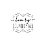 Badge for small businesses - Beauty Salon Counter Staff. Sticker, stamp, logo - for design, hands made. With the use of Royalty Free Stock Photos
