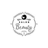 Badge for small businesses - Beauty Salon. Sticker, stamp, logo - for design, hands made. With the use of floral Royalty Free Stock Image