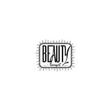 Badge for small businesses - Beauty Salon Therapist. Sticker, stamp, logo - for design, hands made. With the use of Royalty Free Stock Photography
