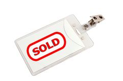 Badge sold Royalty Free Stock Photography