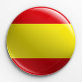 Badge - Spanish flag Stock Photo