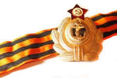 Badge with St. George ribbon naval forces of the USSR Royalty Free Stock Photo