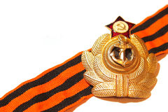 Badge with St. George ribbon naval forces of the USSR Stock Image