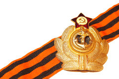 Badge with St. George ribbon naval forces of the USSR Royalty Free Stock Photos