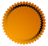 Badge, starburst, sunburst button background. Blank badge, button shape stock illustration