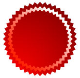 Badge, starburst, sunburst button background. Blank badge, butto Royalty Free Stock Image