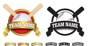 Badge, symbol or icon on white for baseball Stock Images