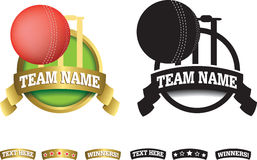 Badge, symbol or icon on white for cricket Stock Image