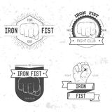 Badge, symbol or logotype with hand. Royalty Free Stock Image