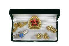 Badge and symbols of Chinese Air Force Royalty Free Stock Photography