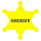 badge szeryfa Zdjęcie Stock