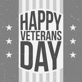 Badge Template with Happy Veterans Day Text. Vector Illustration Royalty Free Stock Images