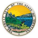 Badge US State Seal Montana 3d illustration vector illustration